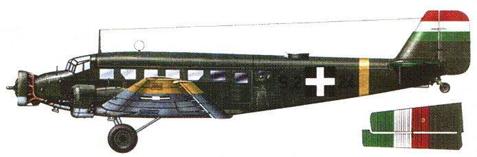 Ju-52/3m g14e (S.2+24) был построен в Венгрии в годы Второй мировой войны. Самолет в середине 1944г. состоял на вооружении эскадрильи 102/1 Королевских ВВС Венгрии.