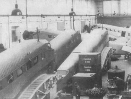 Завод Wiener Seustadter Flugzeugwerke в Винер-Нейштадте, Австрия, занимался доработкой несколько самолетов Ju-52/3m g3e до уровня Ju-52/3m g4e. На самолетах остались передние двери в левом борту фюзеляжа для доступа в кабину пилотов.