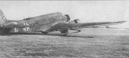 Самолет-<a href='https://arsenal-info.ru/b/book/2719725612/58' target='_self'>тральщик</a> Ju-52/3m MS (PD+KH) сфотографирован на аэродроме Будаёрс под Будапештом летом 1944г. Немцы направили в Венгрию шесть самолетов-тральщиков Ju-52/3m MS, которые использовались для траления Дуная, заминированного авиацией союзников. Самолет переоборудован в тральщик из транспортного из Ju-52/3m g7e. Необычными для Ju-52/3m MS являются колеса основных опор шасси с обтекателями.