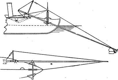 Конструкция шестовой мины.