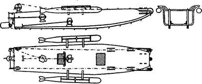 Схема катера-танка «Грилло».
