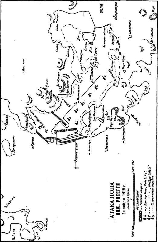 Атака Пола 1 ноября 1918г.