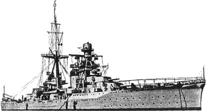 Итальянский <a href='https://arsenal-info.ru/b/book/2414474991/4' target='_self'>тяжелый крейсер</a> «Больцано».