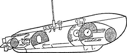 Устройство английской сверхмалой лодки типа ХЕ.