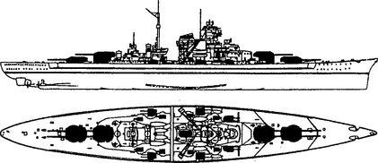 Немецкий линкор «Тирпиц».