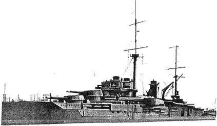 Французский линкор «Курбе».