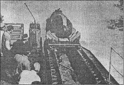 Тренировочный спуск «Кайтен» с корабля-носителя.