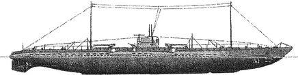 Германский подводный крейсер U-139.