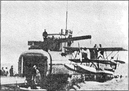 Ангар для самолета английской подлодки М-2.