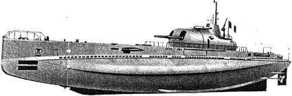 Французский подводный крейсер «Сюркуф».