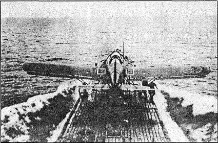Взлет «Сейрана» с японской подлодки.