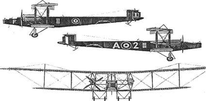 Английский самолет «Хэндли-Пейдж 0/400».