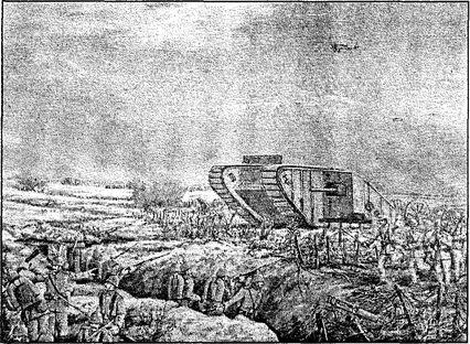 Первое появление танков в бою на Сомме.
