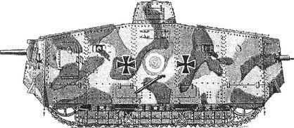 Тяжелый танк A7V.