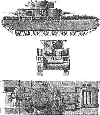 Советский танк прорыва Т-35.
