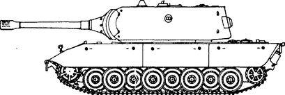 Немецкий сверхтяжелый танк Е-100.