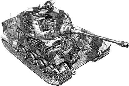 Компоновка немецкого танка «Королевский тигр».