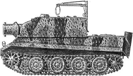 Немецкая самоходная артиллерийская установка «Штурмтигр».
