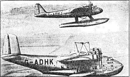 Взлет S-20 с летающей лодки «Майя».