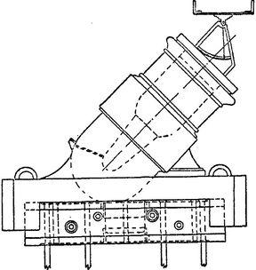 Тяжелая 3-пудовая мортира с поддоном 1768 года.