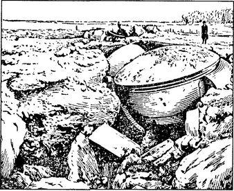 Один из фортов крепости Льеж после обстрела 42-см мортирами.
