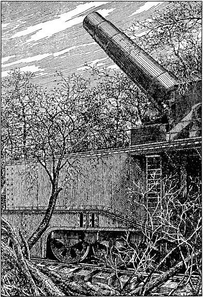 Одно из крупнейших орудий мира — 520-мм гаубица Шнейдера.