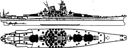 Линкор «Ямато» — носитель крупнейших в мире морских орудий.