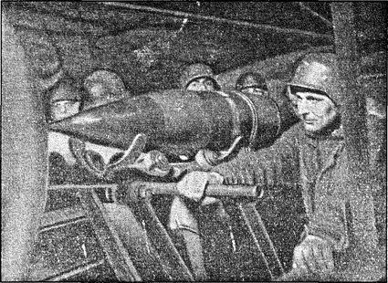 Снаряды дальнобойной артиллерии, предназначенные для обстрела побережья Англии. Этот обстрел имел скорее символическое, чем военное значение.