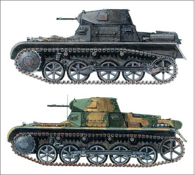 Легкий танк Pzkpfwg-1A. Батальон de Carros de Combate. Теруэль. 1937г.