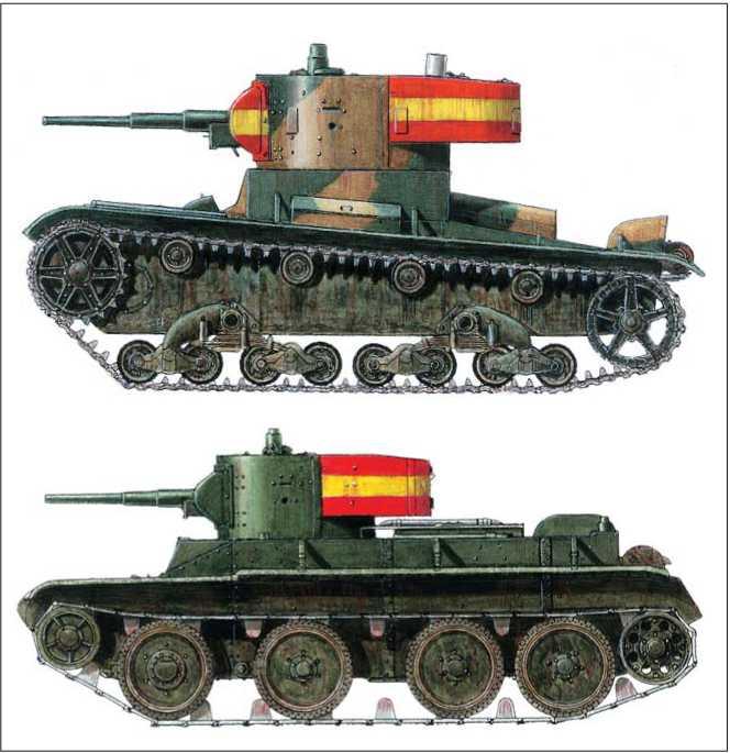 Танк T-R6B. Вооруженные силы франкистов: 3-я рота 2-го батальона Agrupacion de Carros de Combate. 1938г.