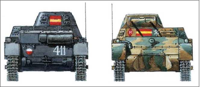 Легкий танк Pzkpjwg-1 ausf В. Вооруженные силы франкистов: 4-я рота Agrupacion de Carros de Combate. Теруэль. 1937г.