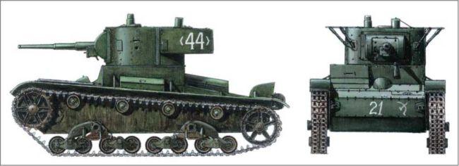 Легкий танк Т-26В. Республиканские вооруженные силы. Арагон. 1938г.