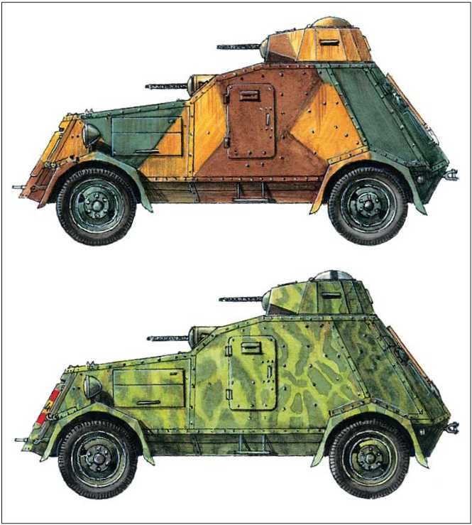 Бронеавтомобиль UNL-35. Республиканские вооруженные силы. 2-й дивизион бронемашин. Барселона. 1937г.