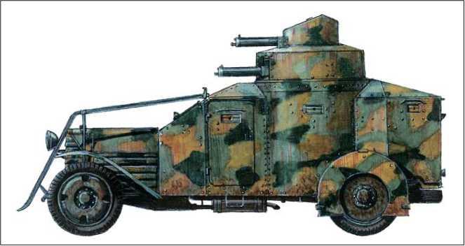 Бронеавтомобиль «Лянча-Ансальдо IZ» образца 1916г.