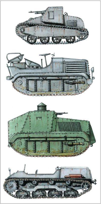 Гусеничный тягач «IGC-Садурни» с бронированным корпусом.
