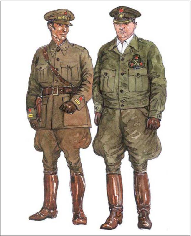 РЕСПУБЛИКАНЦЫ: подполковник в служебной форме; генерал, командир дивизии, в повседневной форме.