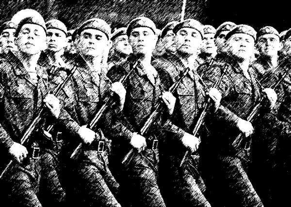 Десантники на параде