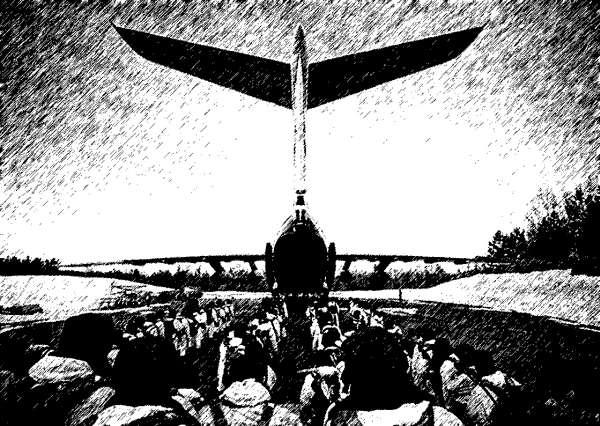 Перед посадкой в самолет