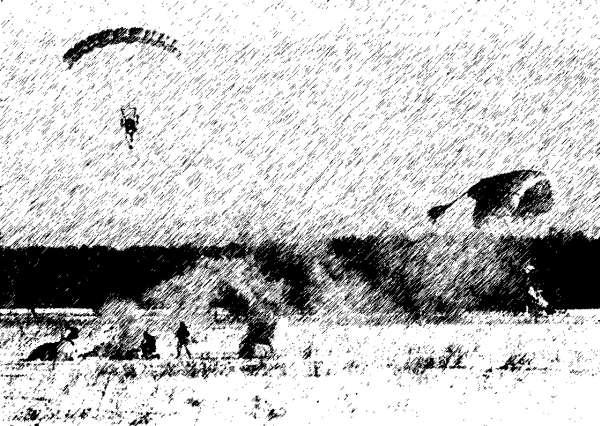 Десантники-разведчики готовят площадку к приему основных сил десанта