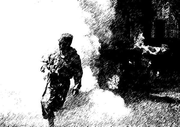 На учениях – как в бою