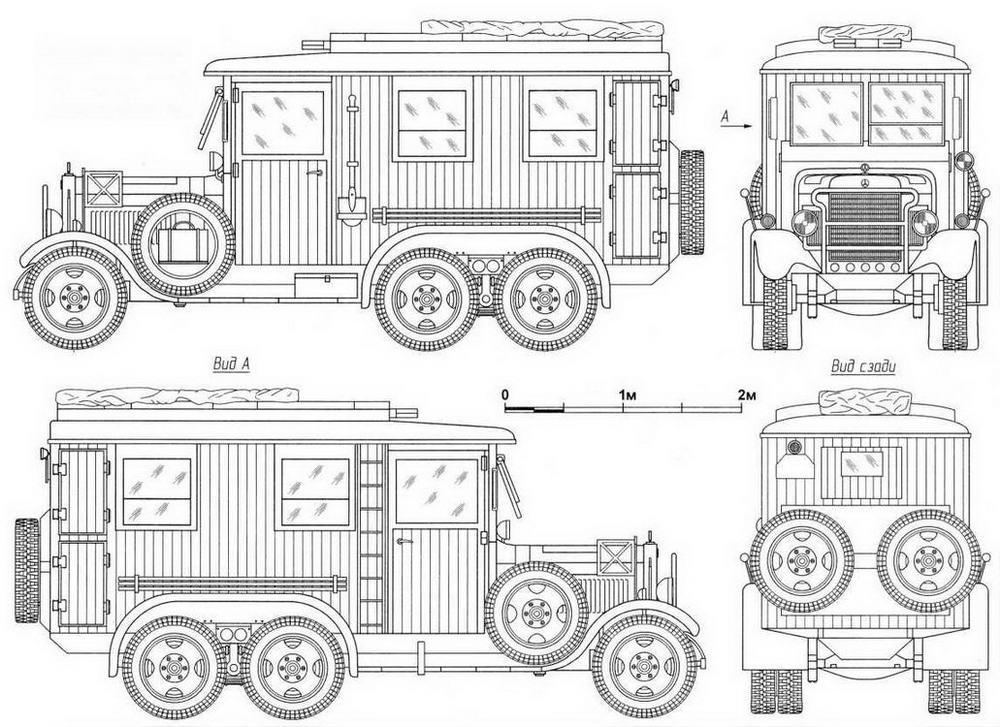 Чертежи машины телефонной связи на базе грузовика Mercedes-Benz G3a