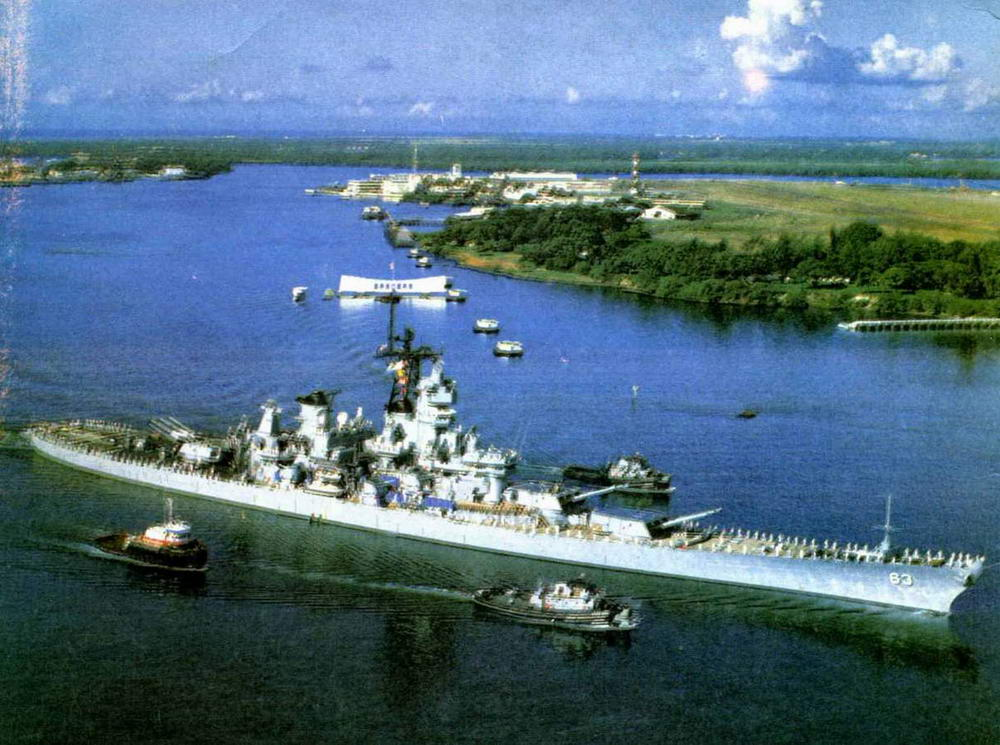 Линейный корабль «Миссури».