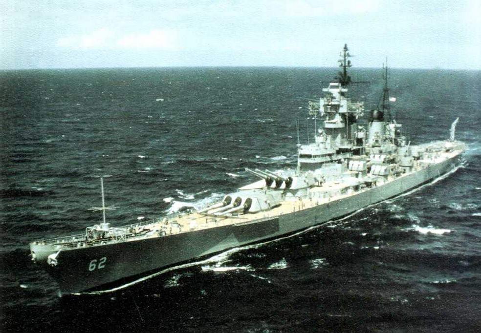 «Нью-Джерси» у берегов Вьетнама, 1968 г.