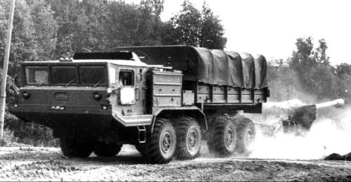 Артиллерийские тягачи БАЗ-6953/69531