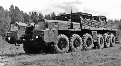 Опытные машины серии МАЗ-547