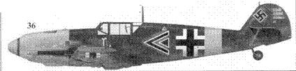 36.Bf. 109Е «двойной черный шеврон» командира I.(J)/LG-2 гауптмана Герберта Ихфильда, Яссы. Румыния, июль 1941г.