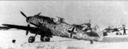 Один из вариантов подходящего, по мнению пилотов JG-5, арктического камуфляжа. На снимке — «Фридрих» из IV./JG-5.