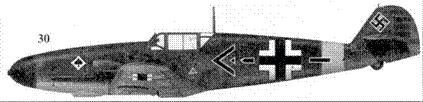 30.Bf. 109Г-2 «черные шеврон и стрела» командира JG-53 майора Гюнтера Фрейхера фон Мальтцана, Бяла Церков, июль 1941г.