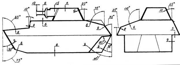 Схема бронирования танка Т-40.