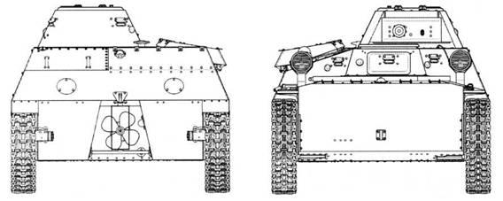 Чертежи легкого плавающего танка Т-40 выпуска 1941 года. Представлен нерадиофицированный (линейный) вариант с 12,7-мм пулеметом ДШК. Масштаб 1:35.